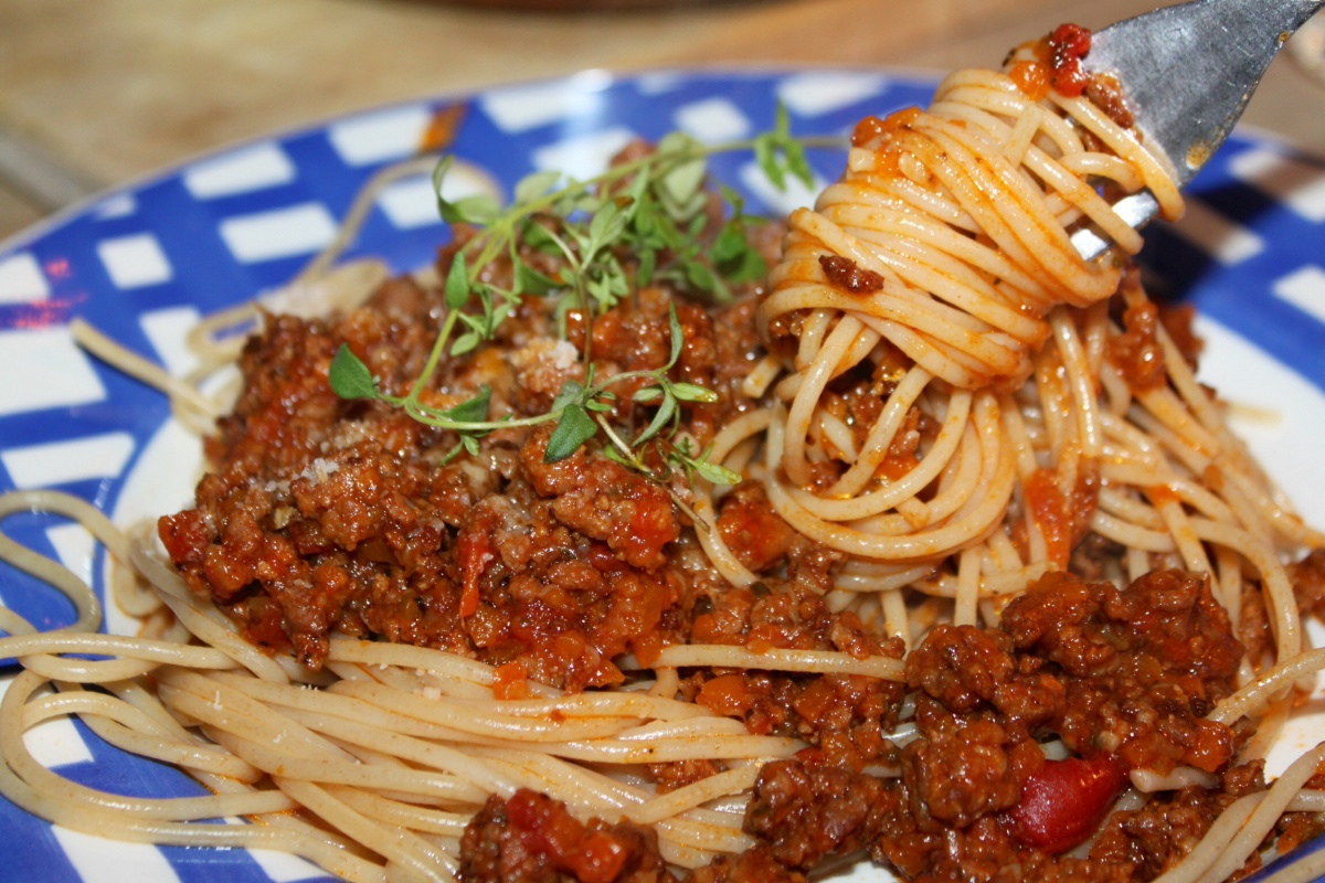 Slow-cooking spaghetti bolognese-saus