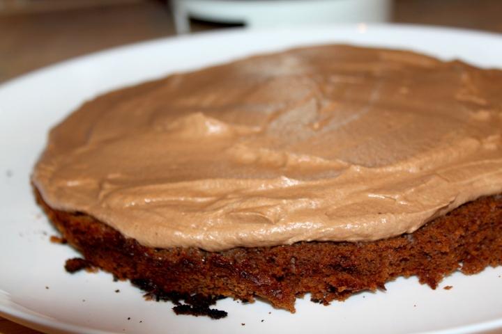 søtppotetsalat, honey-mustard, fyrstekake og sjokoladekremkake 218